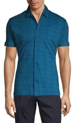 Tonal Dot Short Sleeve Sport Shirt