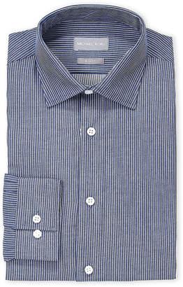Michael Kors Navy Stripe Slim Fit Dress Shirt