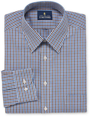 STAFFORD Stafford Comfort Stretch Long Sleeve Woven Gingham Dress Shirt