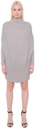 Draped Cotton Rib Knit Sweater Dress $340 thestylecure.com
