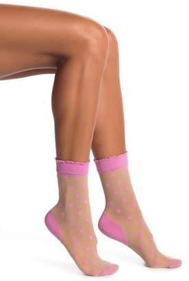 Pretty Polly Pink Spot Ankle Socks