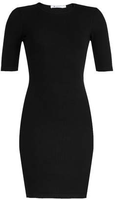Alexander Wang Ribbed Jersey Dress with Cut-Out Back
