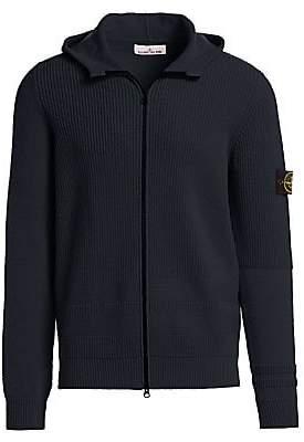 Stone Island Men's Hooded Wool-Blend Sweater