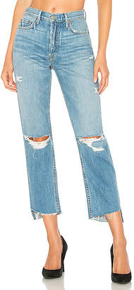 GRLFRND Helena High-Rise Straight Crop Jean.
