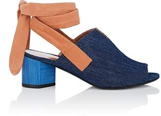 Pierre Hardy Women's Rally Denim & Suede Sandals