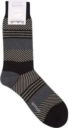 Pantherella Striped Graphic Print Socks