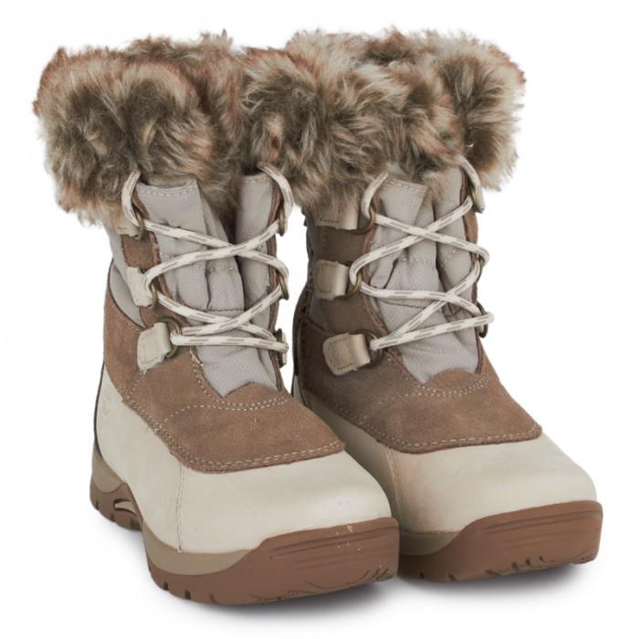 Timberland Kids Cream Blizzard Bliss Faux Fur Snowboots