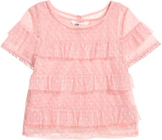 H&M Tiered tulle top - Pink