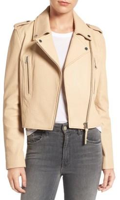 Women's Derek Lam 10 Crosby Leather Moto Jacket $760 thestylecure.com