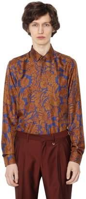 Floral Printed Silk Twill Shirt