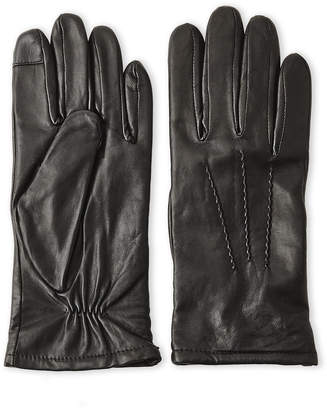 Gloves International Black Leather Touch Gloves