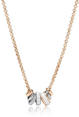 Fossil White Rondel Women's Necklace