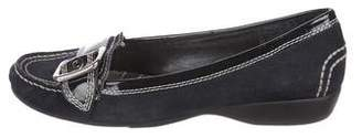Etienne Aigner Suede Rounded-Toe Loafers