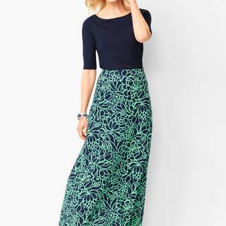 Talbots Bi-Color Bloom Maxi Skirt