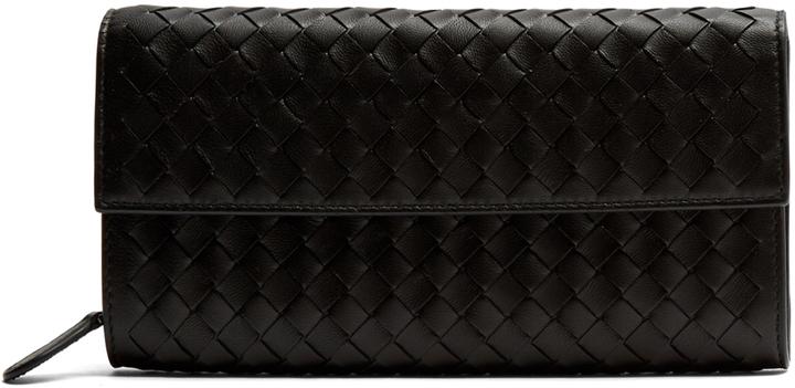 Bottega VenetaBOTTEGA VENETA Intrecciato flap leather wallet