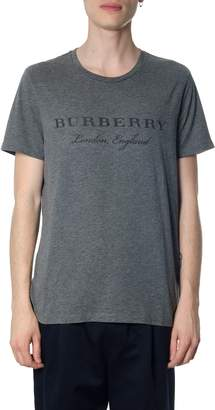Burberry Grey Cotton T-shirt