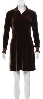 Ralph Lauren Long Sleeve Velvet Dress