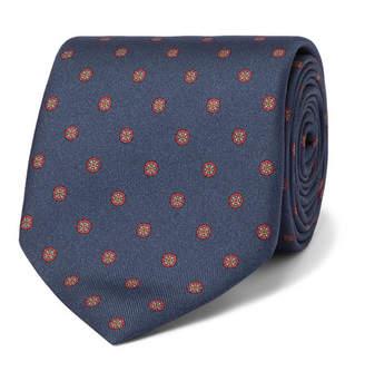 Dunhill 8cm Printed Mulberry Silk-Jacquard Tie