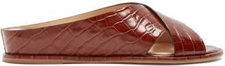 Ellington Leather Goods GABRIELA HEARST crocodile-effect leather sandals