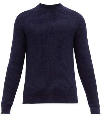 Prada Ribbed Alpaca Sweater - Mens - Navy