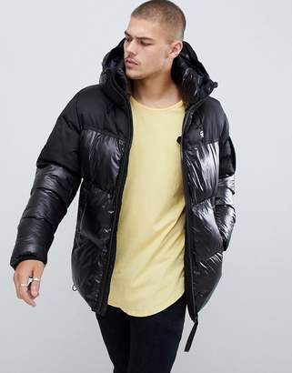 G Star G-Star Whistler hooded quilted jacket in black