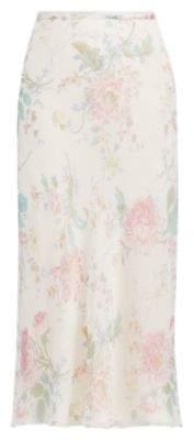Ralph Lauren Alisha Floral Chiffon Skirt Vanilla Multi 2