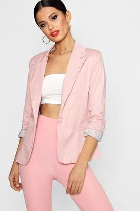 boohoo Jade Colour Block Blazer