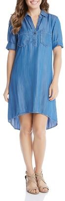 Karen Kane Denim Shirt Dress $148 thestylecure.com
