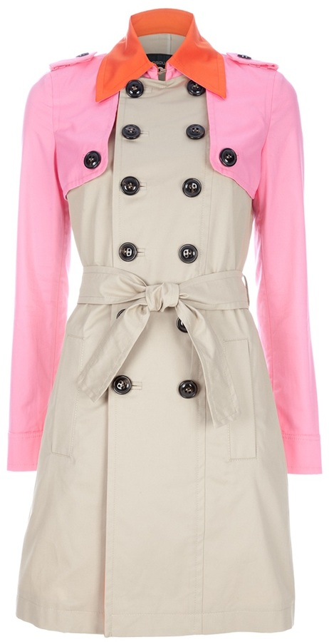 Dsquared2 color block trenchcoat