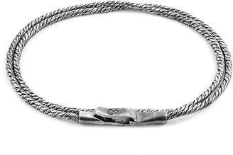 Anchor And Crew Forestay Double Sail Silver Chain Bracelet