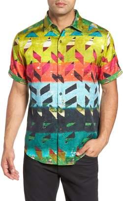 Robert Graham Sharpe Classic Fit Silk Blend Sport Shirt