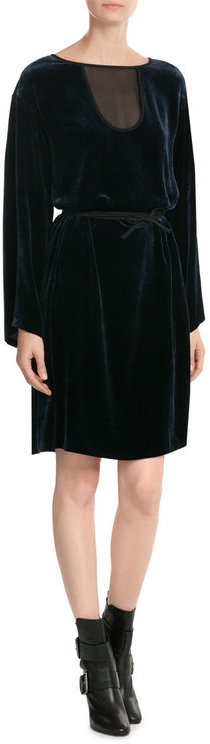 Emilio Pucci Emilio Pucci Velvet Dress with Fluted Sleeves