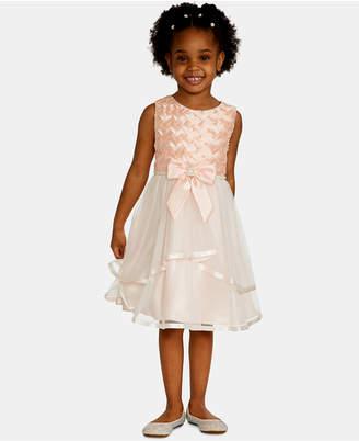 Rare Editions Toddler Girls Basket Weave Mesh Dress