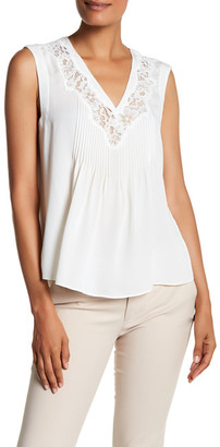 Rebecca Taylor Sleeveless Silk and Lace Tank $325 thestylecure.com