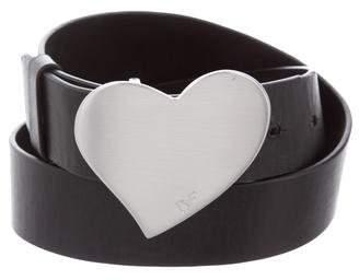 Diane von Furstenberg Leather Heart Belt