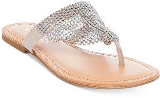 Madden Girl Sabeer Embellished Slip-On Thong Sandals $49 thestylecure.com
