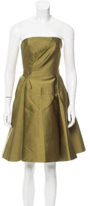 Alberta Ferretti Strapless Satin Dress w/ Tags
