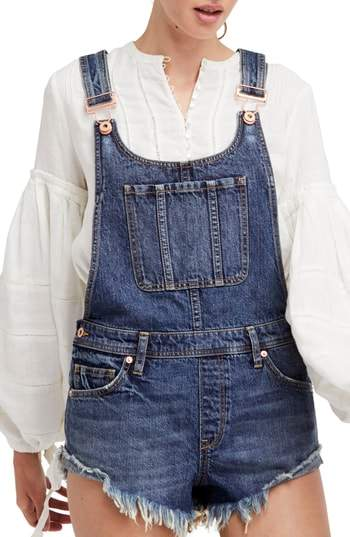 Free People Summer Babe Short Overalls