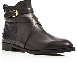 Burberry Vaughan Belted Leather Booties