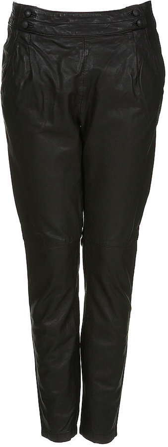 Leather Tapered Trousers