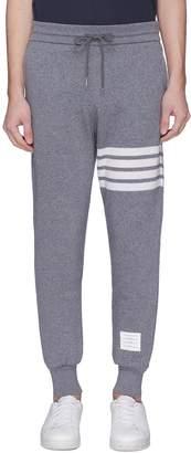 Thom Browne Stripe cashmere-cotton knit sweatpants