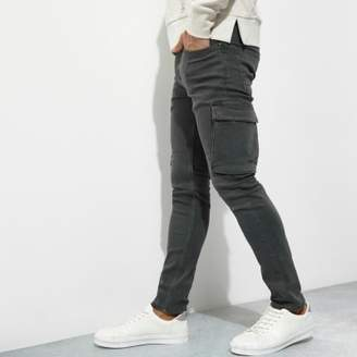 River Island Khaki green cargo skinny fit jeans