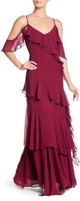Yumi Kim Hearts Desire Ruffle Cold Shoulder Maxi Dress