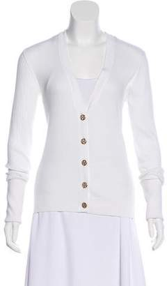 Tory Burch Rib Knit Button-Up Cardigan