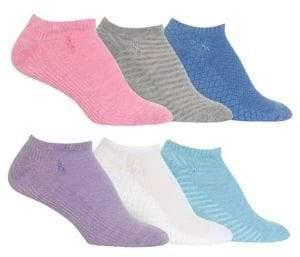 7c0f5c06d17 Polo Ralph Lauren Women s 6-Pack Textured Mesh Low Cut Socks