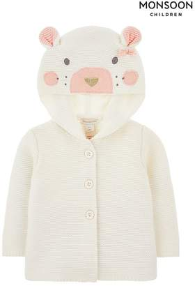Monsoon Girls New Born Baby Tessa Cardigan - Cream