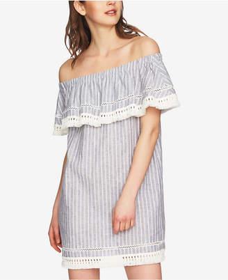 1 STATE 1.state Off-The-Shoulder Fringe Flounce Dress