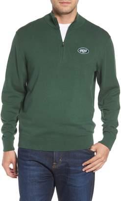 Cutter & Buck New York Jets - Lakemont Regular Fit Quarter Zip Sweater