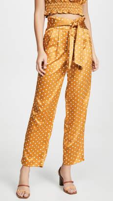 J.o.a. High Waisted Polka Dot Pants