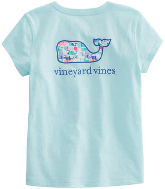 Vineyard Vines Girls Candy Whale Pocket Tee